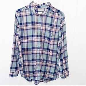AE Amazingly Soft Plaid Flannel Button Up